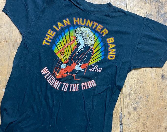 Ian Hunter tour shirt vintage 1980s