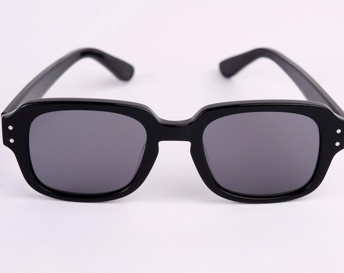 "New York Eyerish ""The Downings"" Frame Black Shell Frame with Grey Lenses"