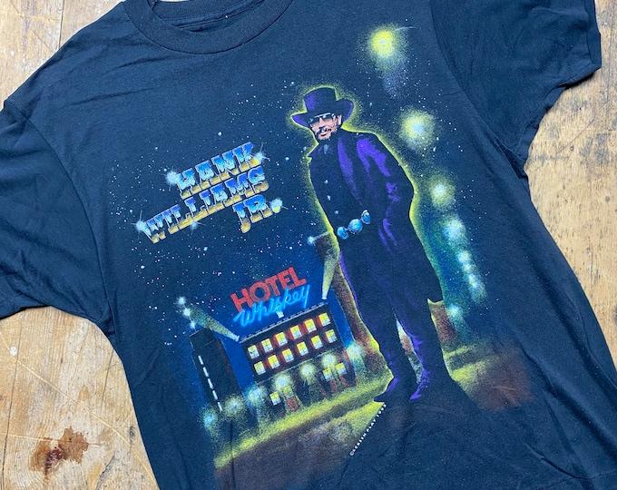 Hank Williams junior vintage tee shirt. Tour shirt.