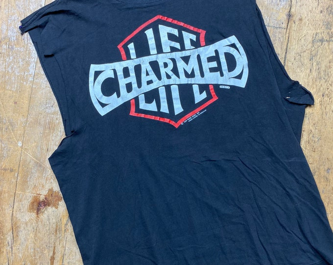 Billy Idol Charmed Life cut off shirt. Vintage made in USA.