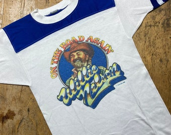 Willie Nelson vintage two tone band shirt.