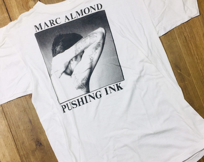 Marc Almond Pushing Ink shirt vintage 80's size large fits  small Mer. Made in USA