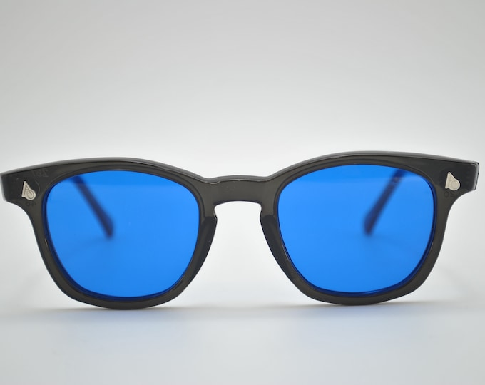 American Optical  Black Frame and Blue Lens, Vintage marked down 20.00usd.