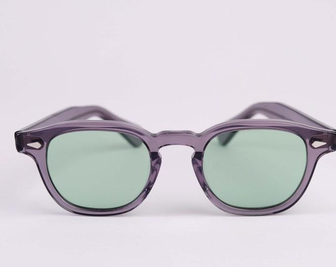 New York Irish Causeway Glasses Grey with Green  lenses Small