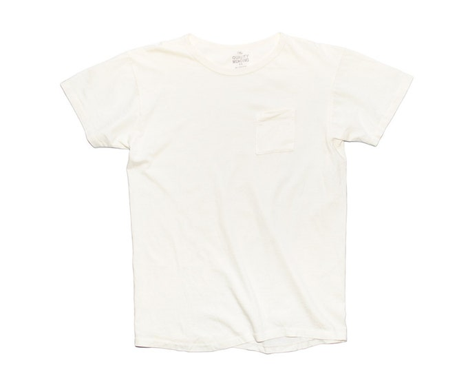 QMC California Pocket Tee - Off White - 100% Cotton Jersey T-Shirt Military Spec