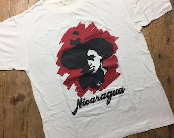 Vintage Nicaragua Sandinista shirt. The Clash style. Size large.