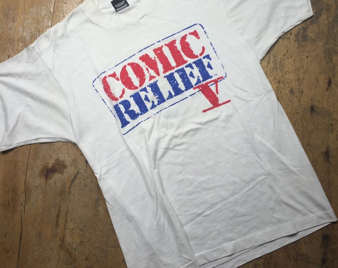 Comic Relief vintage shirt, screen stars size large. 90's