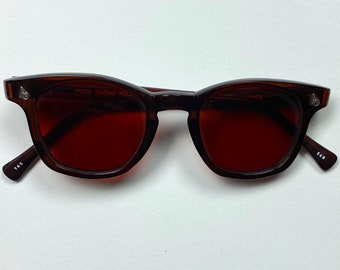 Vintage Deadstock American Optical Safety Glasses - Brown and Amber