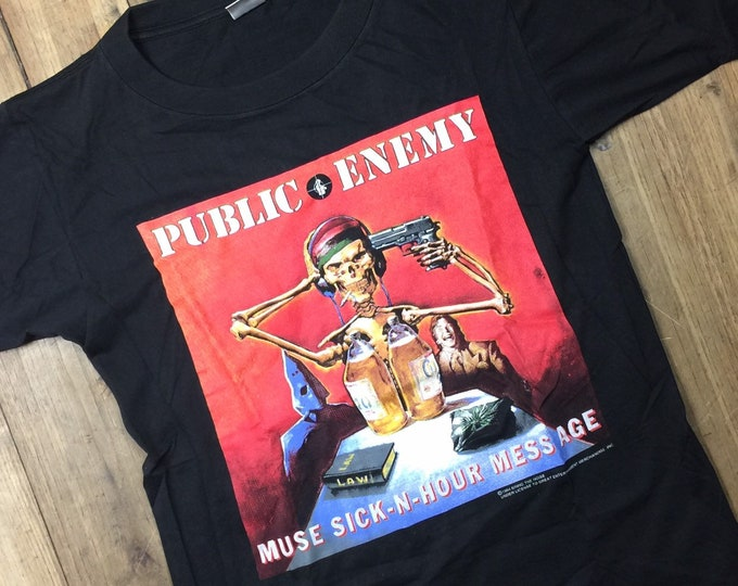 Public Enemy 90's shirt 1994 muse sick in hour message sort . XL