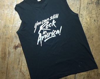 Vintage You Can Still Rock In America muscle shirt muscle tee size medium.