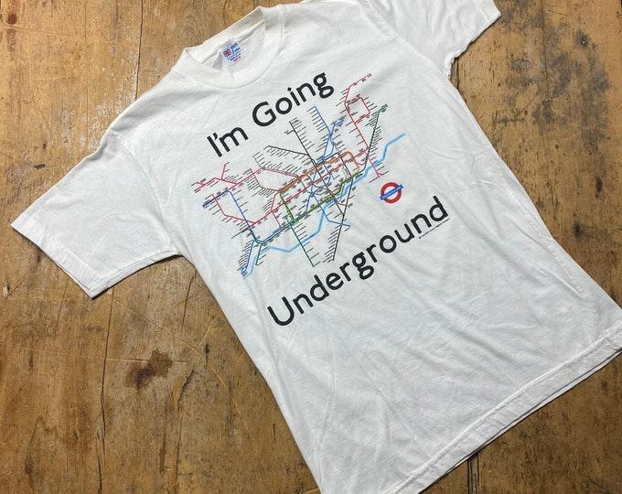 Vintage London Underground shirt. The Jam going underground