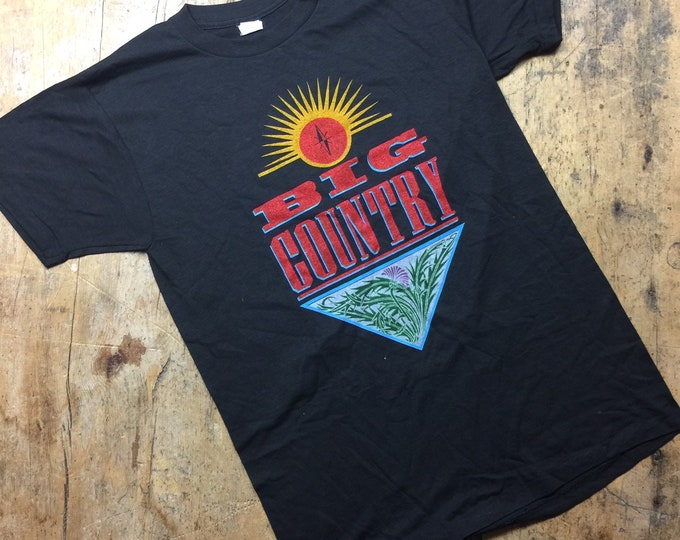 Vintage Big Country 1984 tour shirt Size medium