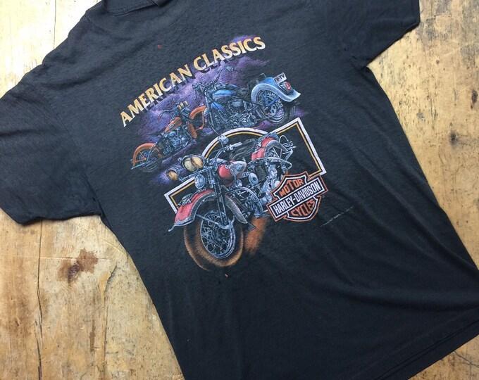 Vintage 3D Emblem Vintage Harley 70's/80,s shirt