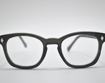 Custom Sunglasses, Black frame, clear lens, Americam made