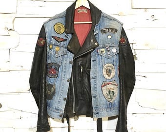 "Lewis Leathers Set. Lewis ""Bronx"" + Denim Vest (extremely rare) - Large"