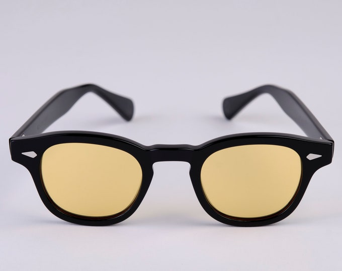 New York Eye_rish Causeway Glasses Black with Yellow lenses Large