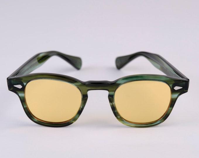 New York Eye_rish Causeway Glasses green with Yellow lenses Small