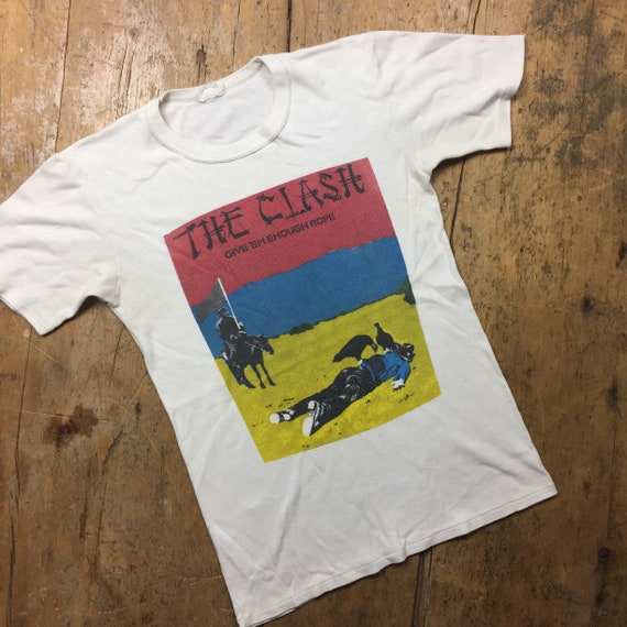 The Clash give em enough rope album cover tee shir