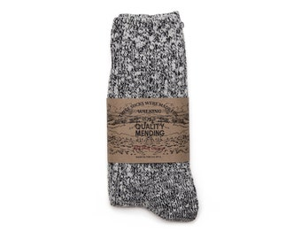 Quality Mending Co. Rag Socks - Black