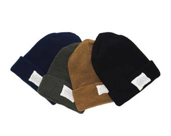 QMC Knit Watch Cap Military Spec 100% Wool Winter Hat, Made in USA