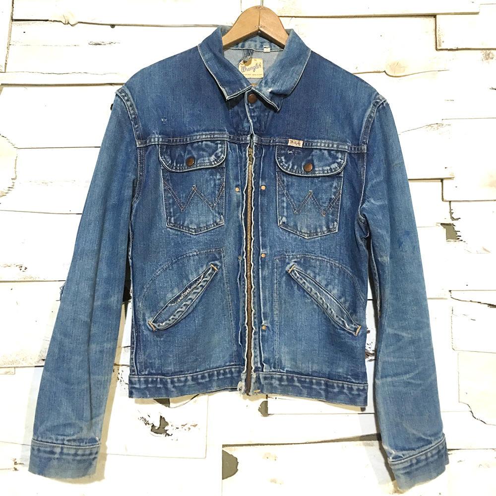 vintage 50 s wrangler sanforized hand stitched denim jacket small