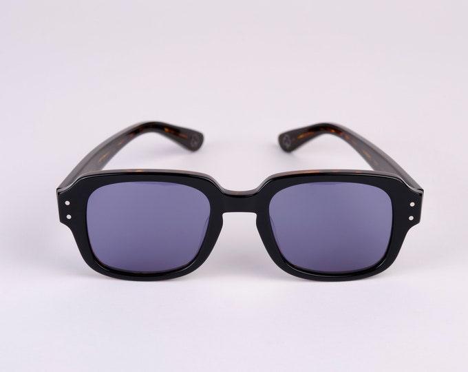 New York Eye_rish  The Downings Frame Black/Brown tortoise shell Shell Frame with Blue Lenses