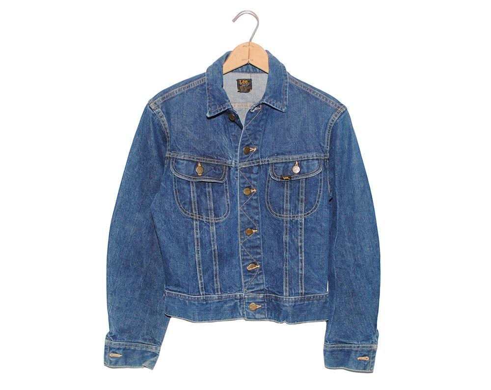 51c3764f Vintage Lee Jean Jacket 101-J Sanforized Denim Union Made in USA ...