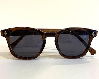 Custom vintage Sunglasses Brown frame with grey  lens, Safety glasses
