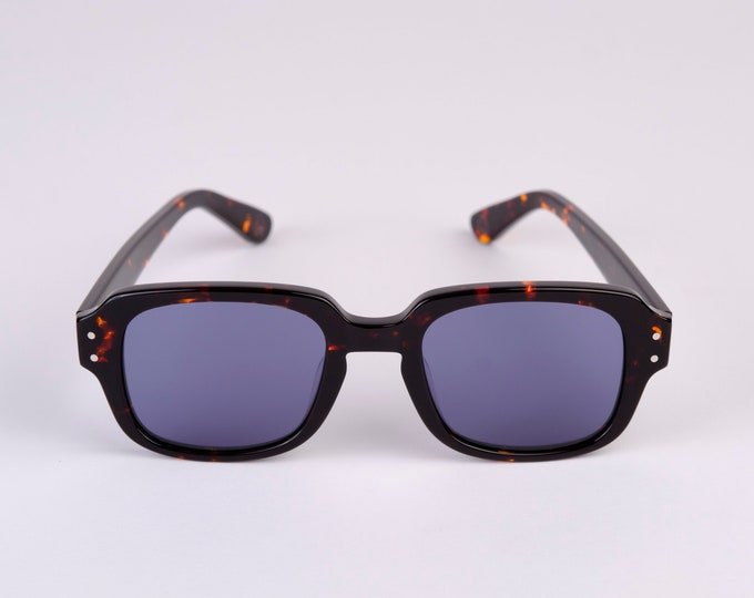 """New York Eye_rish """"The Downings"""" Frame Dark Brown Tortoise Shell Frame with G24  Blue Lenses"""