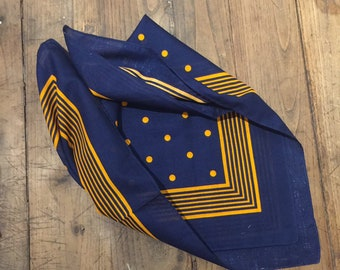 Vintage Dutch bandana, soft to touch old stock, Perfect for a mask substitute.