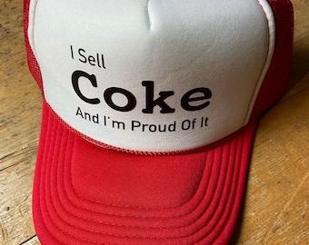 I Sell Coke and I'm Proud of it retro trucker cap
