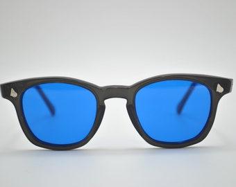 American Optical  Black Frame and Blue Lens, Vintage