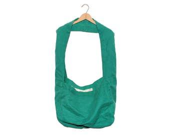 QMC Wide Strap Canvas News Paper Bag - Green