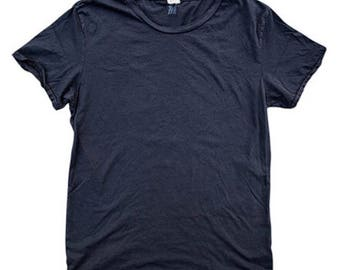 QMC Roughed Up Tee - 100% Cotton Jersey T-Shirt Washed Black