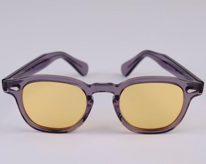 New York Eye_rish  Causeway Glasses Grey with Yellow lenses Large