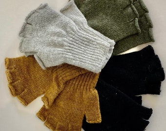 Military style Wool fingerless gloves, free shipping in USA