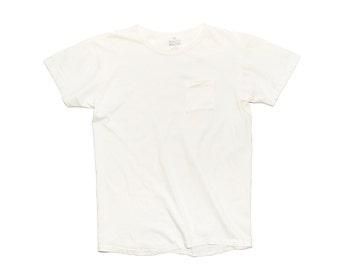 QMC California Pocket Tee - Off White - 100% Cotton Jersey T-Shirt
