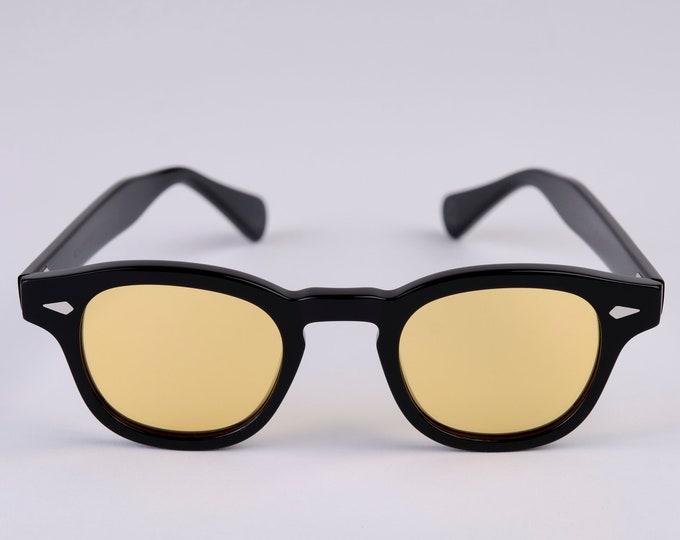 New York Eye_rish  Causeway Glasses Black with Yellow lenses Small