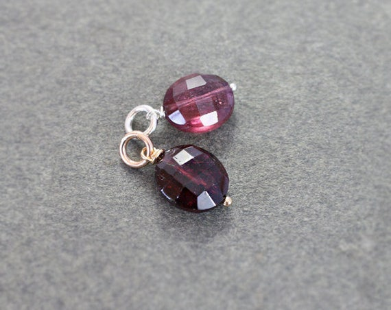 October Birthstone Tourmaline Pendant, Sterling Silver or 14k Gold Filled Wire Wrapped Charm - Add a Dangle