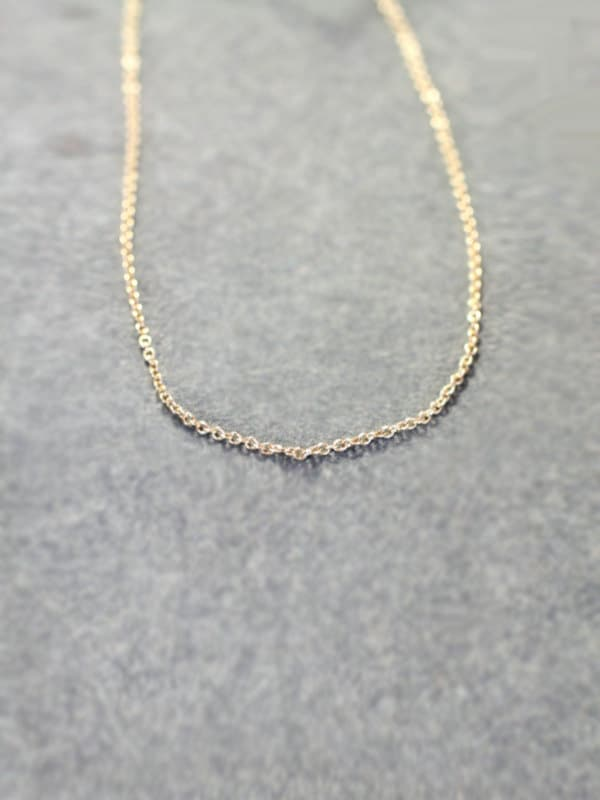 14k Gold Filled Necklace Chain Only 18 Inch Charmstarter