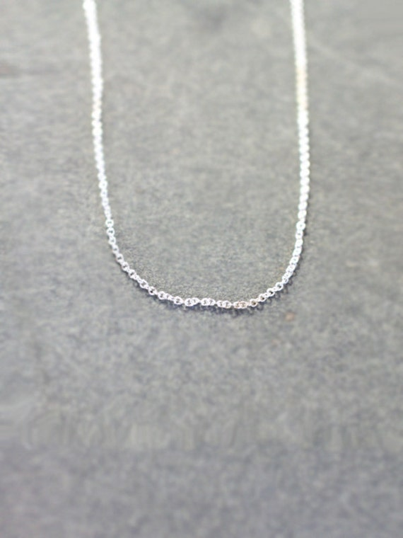 Sterling Silver Necklace Chain Only, 18 Inch Build Your Own Personalized Charm Necklace, Dainty Chain - Uniquely Yours