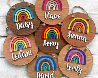 Personalized Rainbow Name Sign - Rainbow Baby Nursery or Kids Room Decor