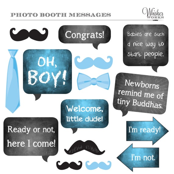 Diy photo booth printables baby shower its a boy etsy image 0 maxwellsz