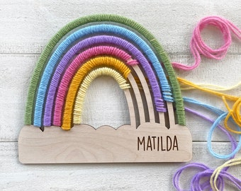 Large Personalized Rainbow Craft for Kids - Complete Craft Kit - Made in America