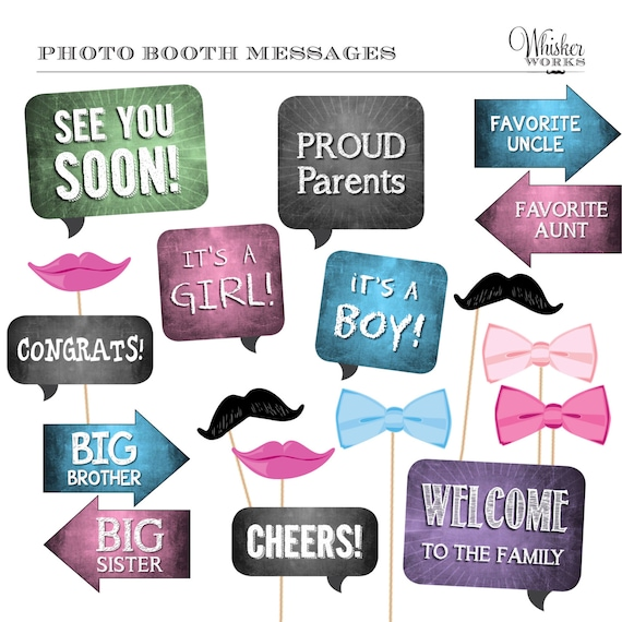 Diy photo booth printables baby shower gender neutral by whisker il570xn maxwellsz