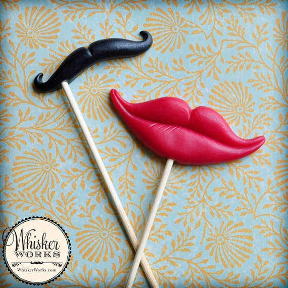 Photo Booth Props The Sassy Couple Set Of 2 By Whisker Works