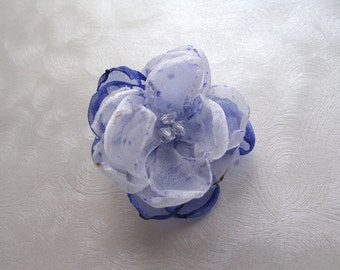 Amethyst Ice Kanzashi Snap Flower