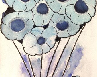 Always Blue Abstract Art Print