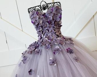 b262e882d42 Gray Plum Flower Girl Dress Flower Girl Dress Bridesmaid Dress Prom Dress Simple  Wedding Dress Girls Dresses Princess Dress Formal Dress