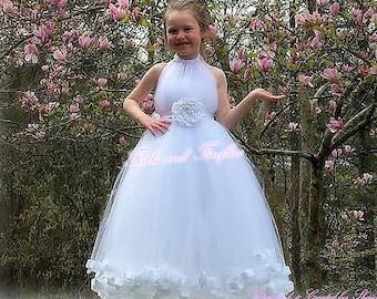 6801062bf45 White Flower Girl Dress Bridesmaid Dress Girls Dresses Prom Dress Summer  Dress Simple Wedding Dress Formal Dress Princess Dress Wedding Gift